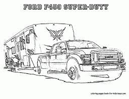 Truck And Camper Coloring Pages