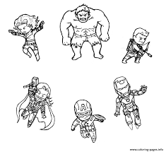 For fans of comic heroes and superhero movies, we've brought printable avengers coloring pages for kids and adults. Mini Avengers Marvel Coloring Pages Printable
