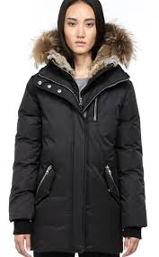 mackage women marla f4 winter coats with fur hood black
