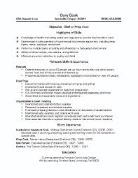 Culinary Resume Samples Tips Useful Materials Templates
