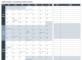 Free 2020 Monthly Calendar Template Free Excel Calendar Templates