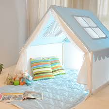 Kids Indoor Tent Blue Playhouse Tent Kids Tents 100 Cotton Child Tent Small