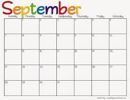Best Photos Of September 2015 Calendar Simple 2016 Printable