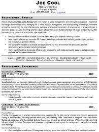 Sales Profile Resume Sample Sales Manager Resume Sales Management