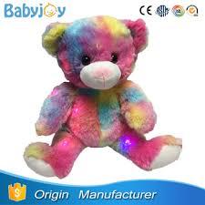Stuffed Rainbow Bear Plush Rainbow Teddy Bear With Led Lights Buy