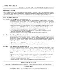 Plant Manager Resume Plant Manager Resume Beautiful Resume Objective