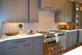 9 chevron pattern the chevron pattern never goes out of style and gives an interesting updated look to any kitchen