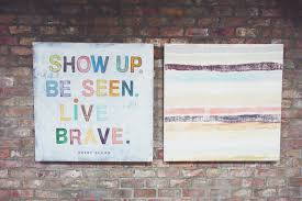 about 6 weeks ago i received an email from my friend bren brown hey she said any chance you could stop by my office sometime soon  on brene brown wall art with chookooloonks discover your superpowers karen walrond