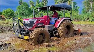 Mahindra Novo 755 Di Rotary Tiller Performance In Mud Field Full Featu Tiller Rotary Mud