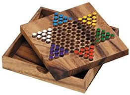 Wooden Board Games Uk Logica Puzzles art CHINESE CHECKERS Wooden Board Game Teak 12