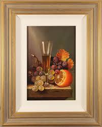 raymond campbell original oil painting on panel a raised glass