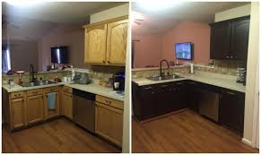 kitchen beautiful painted brown kitchen cabinets before and