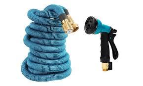 garden hose spray nozzle. 75ft Heavy-Duty Expandable Garden Hose With Spray Nozzle O