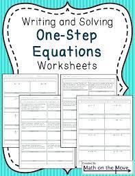 28 solving one step equations worksheet