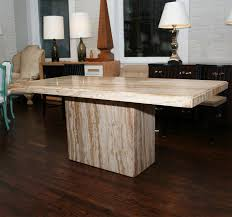 dining room marvelous modern italian marble or travertine pedestal dining table at from eye catching