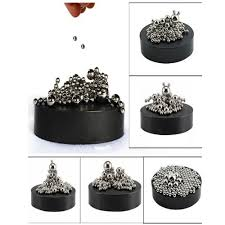 com zmi magnetic sculpture desk toy with stainless steel ball stress relief office decoration 171 toys