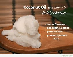 coconut oil as a leave in hair conditioner1