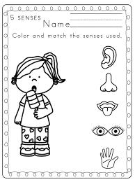 Five senses coloring pages preschool printables toddler 5 senses ...