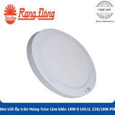 Đèn LED Ốp trần Mỏng Tròn Cảm biến 18W D LN11L 220/18W.PIR Rạng Đông - Hàng  Chính Hãng - mintmart.vn
