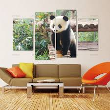 panda canvas painting wall art print flower white black cute animal all art picture with modern on panda canvas wall art with panda canvas painting wall art print flower white black cute animal