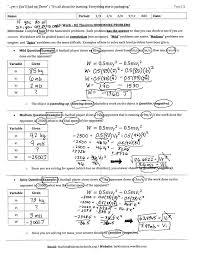 energy homework answers