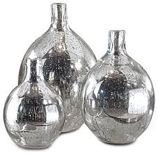 whitney hollywood regency mercury glass sphere wine bottles set of 3