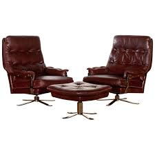 swivel chair with ottoman lounge set leather two swivel chairs and ottoman by circa annaldo leather swivel chair ottoman 2 pc set