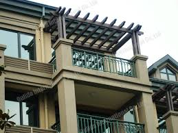 wooden balcony design for sale wpc pergola projects manufacturer Balcony  Pergola Design