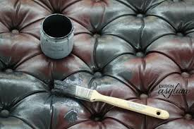 can you paint leather furniture. diy painting leather with velvet finishes painted furniture can you paint