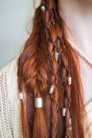 Viking Hairstyle With Braids And Beads Really Cool Hairstyles