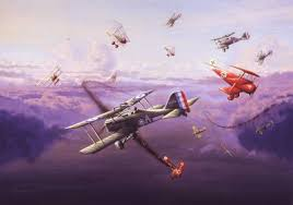 dawn dog fight mick mannock vc by graeme lothian military  dawn dog fight mick mannock vc by graeme lothian