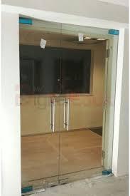 double glass door with floor spring