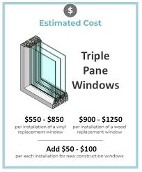 triple pane window cost 2020 s
