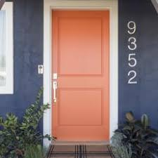 Orange front door Ideas Eclectic Blue Home Exterior With Orange Front Door Southern Living Photos Hgtv