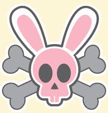 easter bunny skull n crossbones by primatebonz