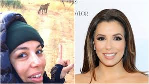 eva longoria split image no makeup