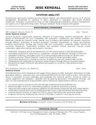 System Analyst Resume Resume Of A System Analyst Business Analyst ...