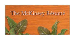 How To Write A Mckinsey Resume Shimmering Careers