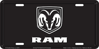black dodge ram logo. amazoncom chroma 001961 brushed aluminum u0027dodge ramu0027 metal tag license plate automotive black dodge ram logo e