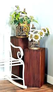 rustic tiered stand wooden tiered plant stand wood plant stands ping 3 piece rustic wood pedestal rustic tiered stand wood tin 3