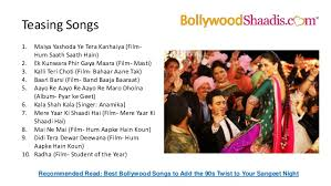 bollywood songs for wedding Wedding Entrance Indian Songs bollywood after marriage; 9 teasing songs best indian wedding entrance songs