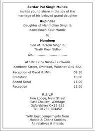 sikh wedding invitation wordings,sikh wedding wordings,sikh Lines On Wedding Cards In Hindi Lines On Wedding Cards In Hindi #29 lines for daughter wedding card in hindi