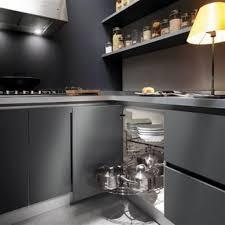 inspiring grey kitchen walls. Kitchen, Grey Kitchen Cabinets Design With Black Appliances Ideas ~ 15 Inspiring Cabinet Walls G