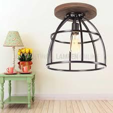 Industrieel Landelijke Plafondlamp Birdie Met Hout Kopen