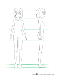 For all you anime fans out there. How To Draw Anime Girl Body Step By Step Tutorial Animeoutline