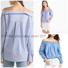 off the shoulder shirt diy photo credit l r top bottom
