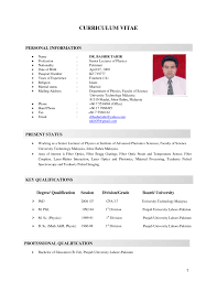 Resume Format Malaysia Resume For Study