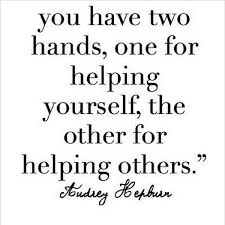 Helping Others Quotes Fascinating Inspirational Quotes You Have Two Hands One For Helping Yourself