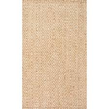 nuloom alanna diamond jute natural 5 ft x 8 ft area rug