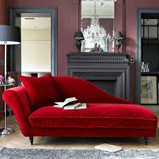 Modern chaise lounge chair Lounge Sofa Red Recamier For Living Room Decorating With Fireplace Large Wall Mirror And Crystal Chandelier Decor4all Modern Chaise Lounge Chairs Recamier For Chic Room Decor In Classic